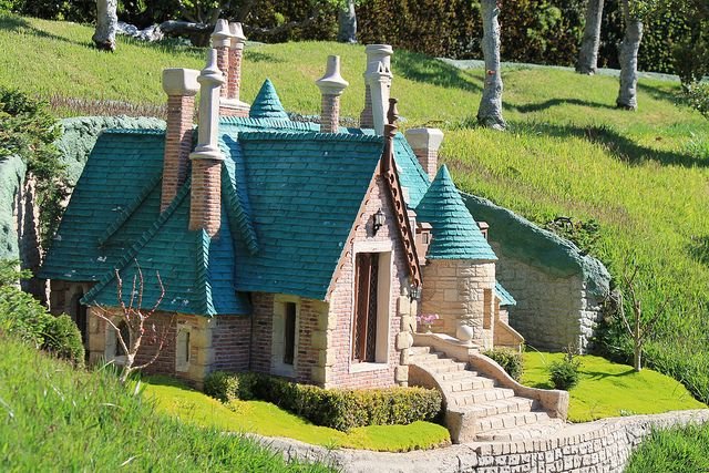 """Toad Hall from """"The Wind in the Willows,"""" 1949 Animated Classic . Storybook Land Canal Boats ."""