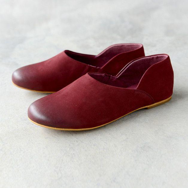Original handmade leather Loafer Ballet Flats