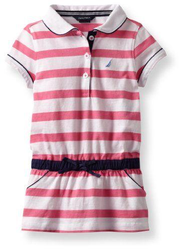 Nautica Girls 2-6X Stripe Polo Dress for only $16.14