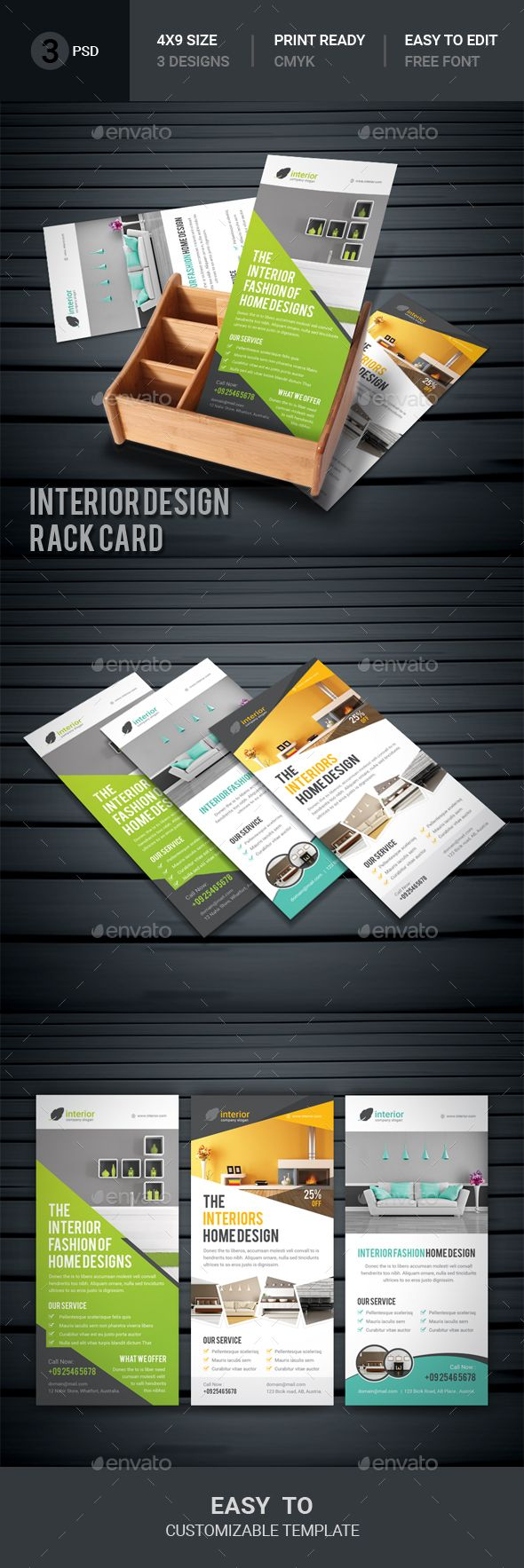 Interior Design Rack Card Corporate Flyers Download Here Https - Rack card design template