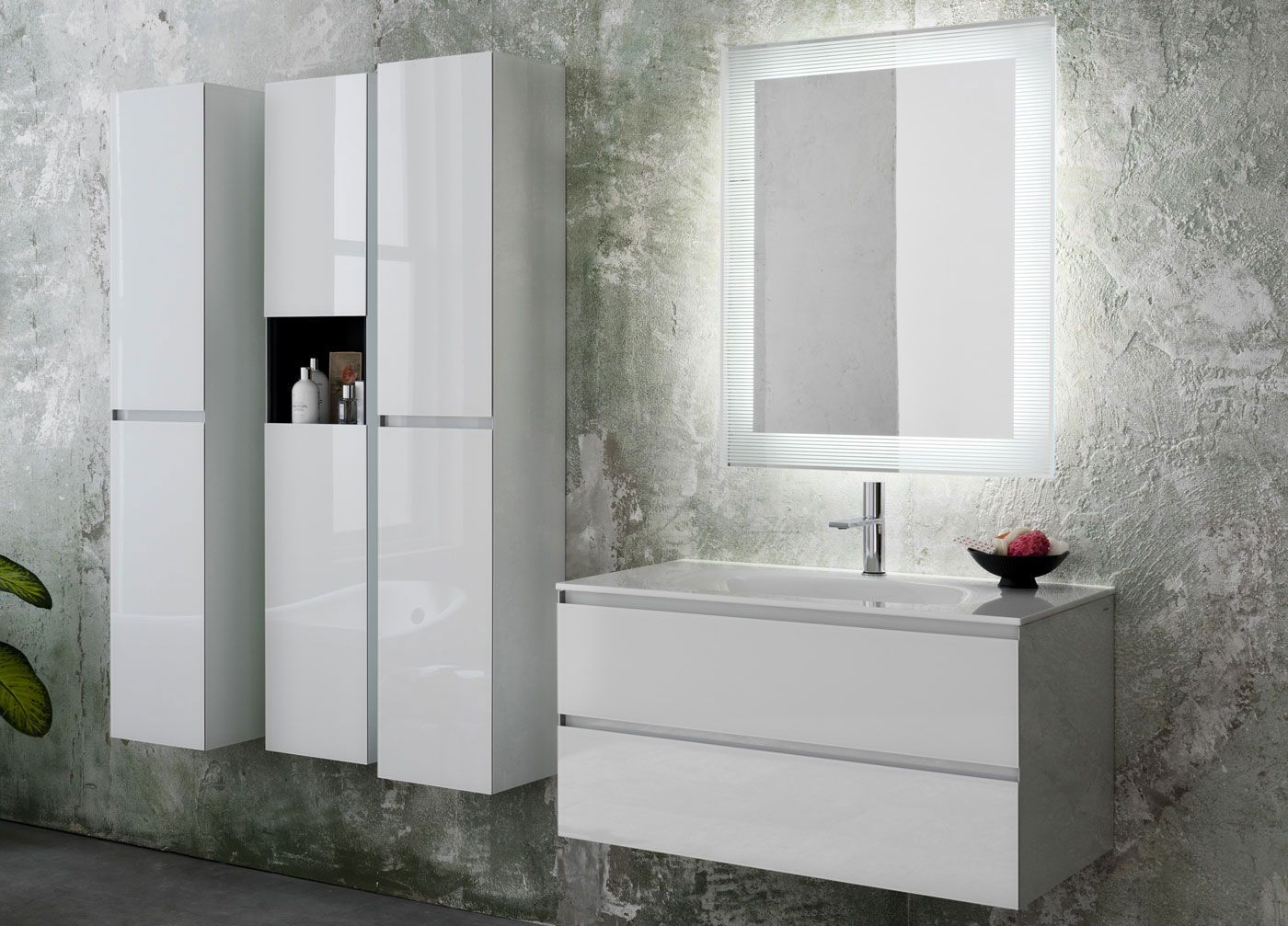 Simple white bath vanity by Artelinea / Domino Collection | Bathroom ...