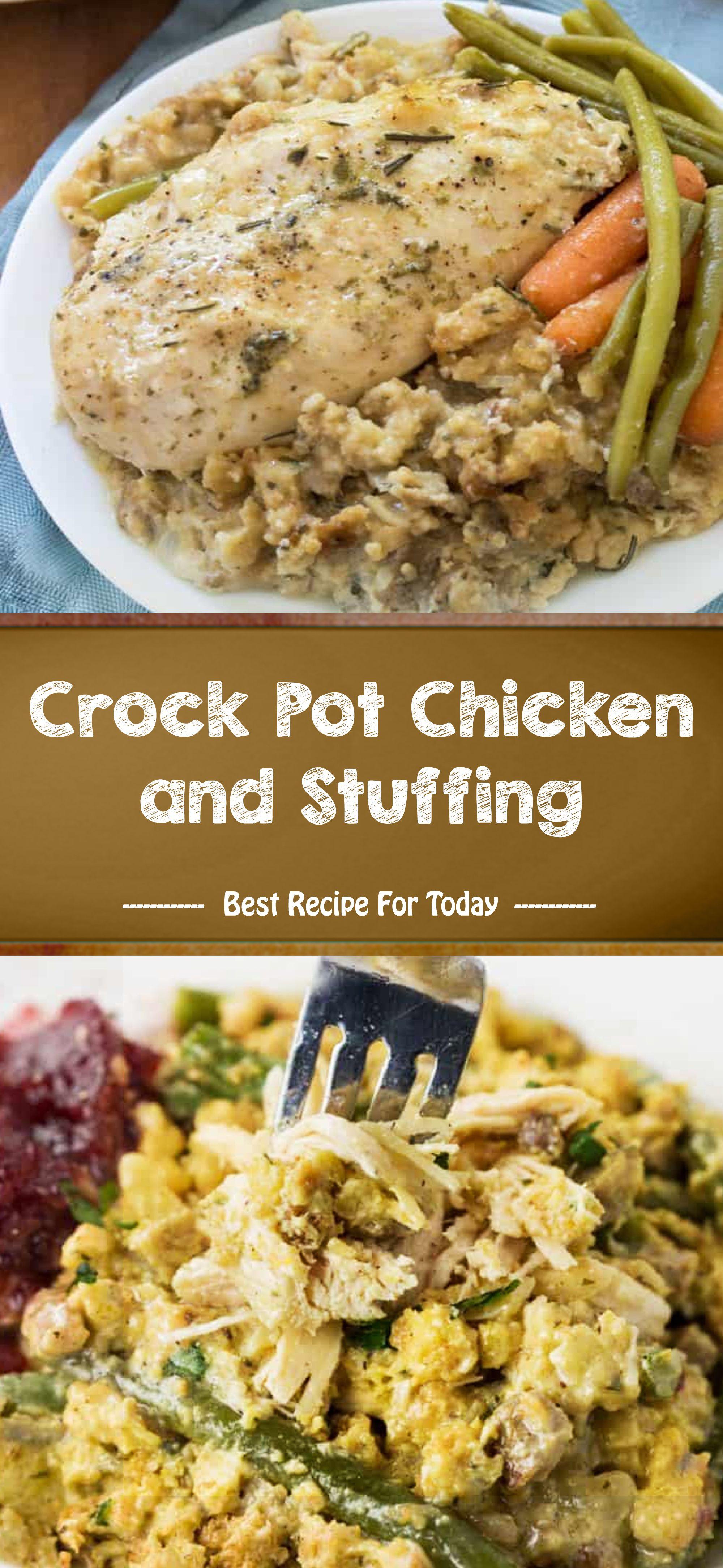 Crock pot chicken and stuffing chicken crockpot recipes