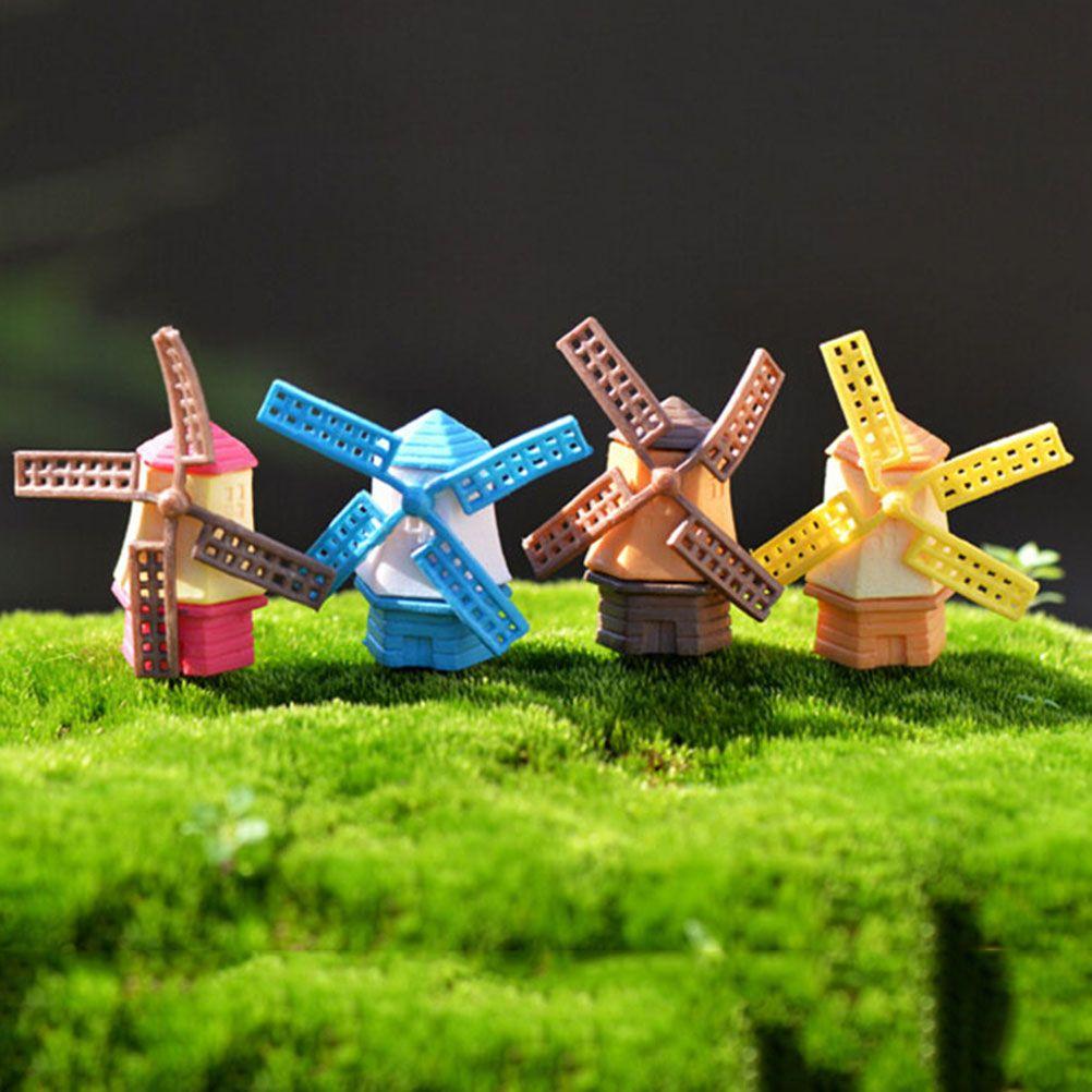 1pcs Windmill House Fairy Garden Miniature Craft Micro Cottage ...