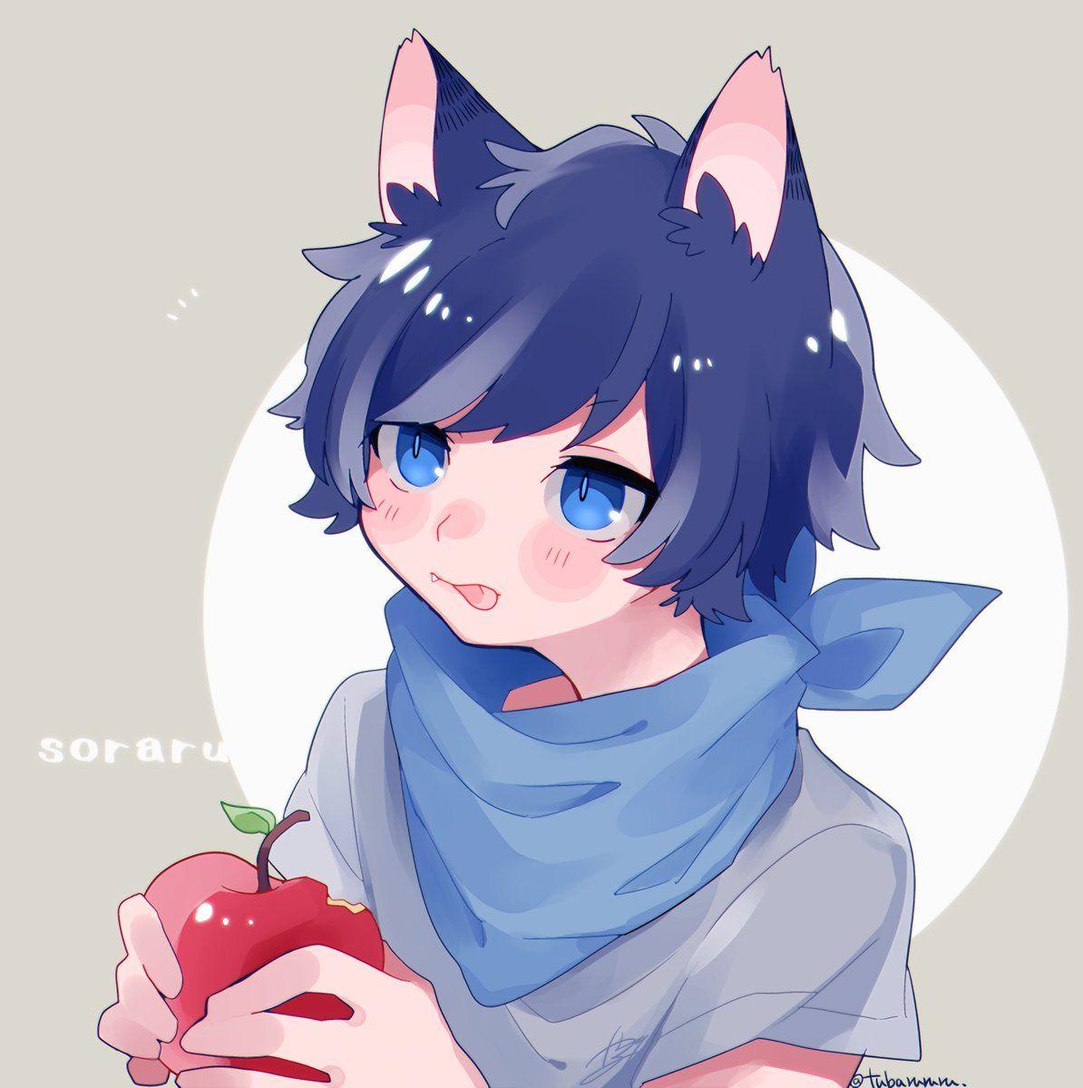 Pin by Kiho on tubarururu Pinterest Anime, Neko boy