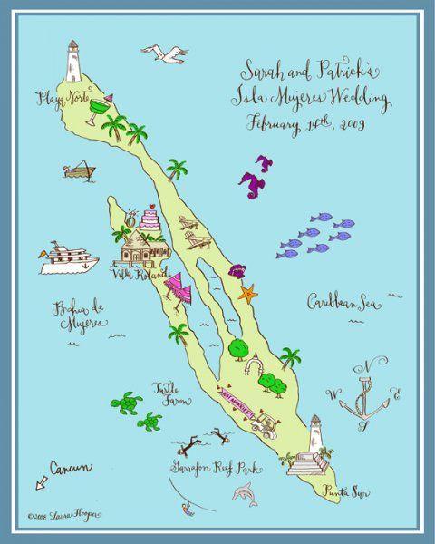 Laura Hooper Hand Drawn Maps...Isla!