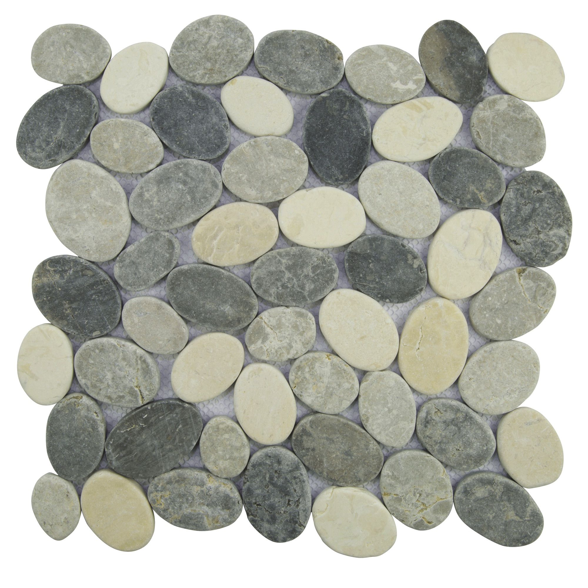 Easy To Install Mesh Backed Interlocking Natural Stone Tile Made Out Of High Quality Indonesian Marble In White Marble Mosaic Stone Mosaic Tile Stone Mosaic