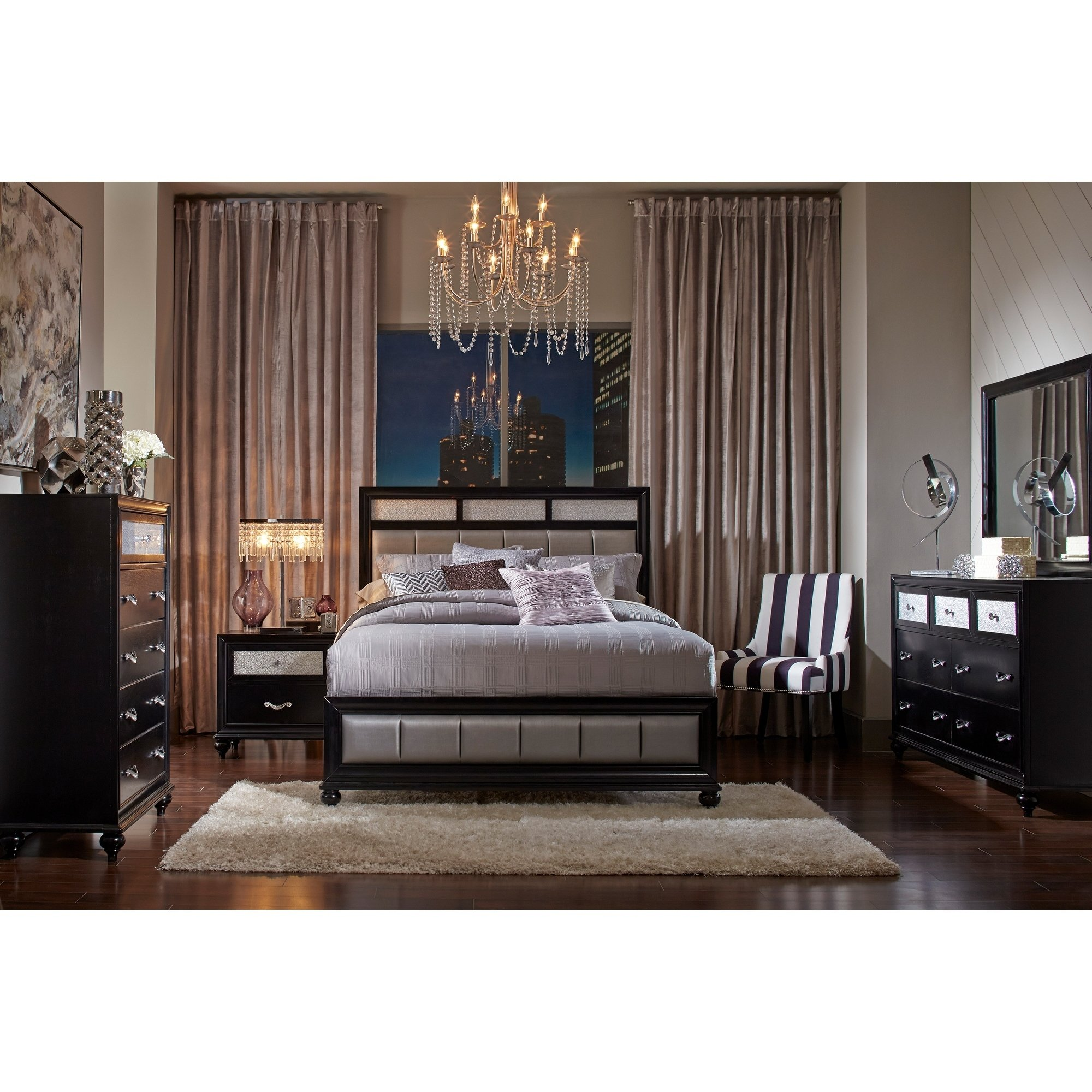 Halifax Transitional Black 3-piece Bedroom Set (Eastern King