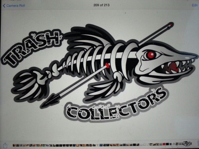 Bowfishing Team Logo Gartoon Bowfishing Fishing Shirts Bow Hunting