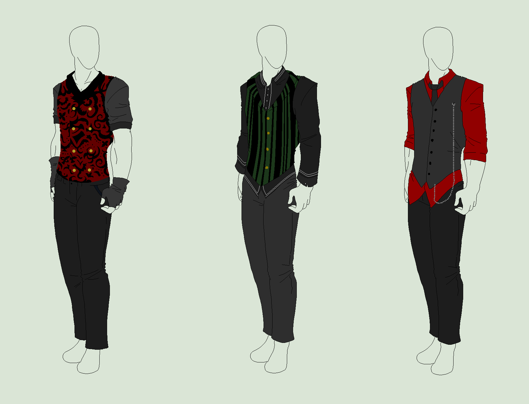 Outfit Adopts 3 Pack - Gentleman Waistcoats - SOLD by ...