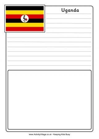Uganda Flag Printables Travel Scrapbook Pages Business For Kids