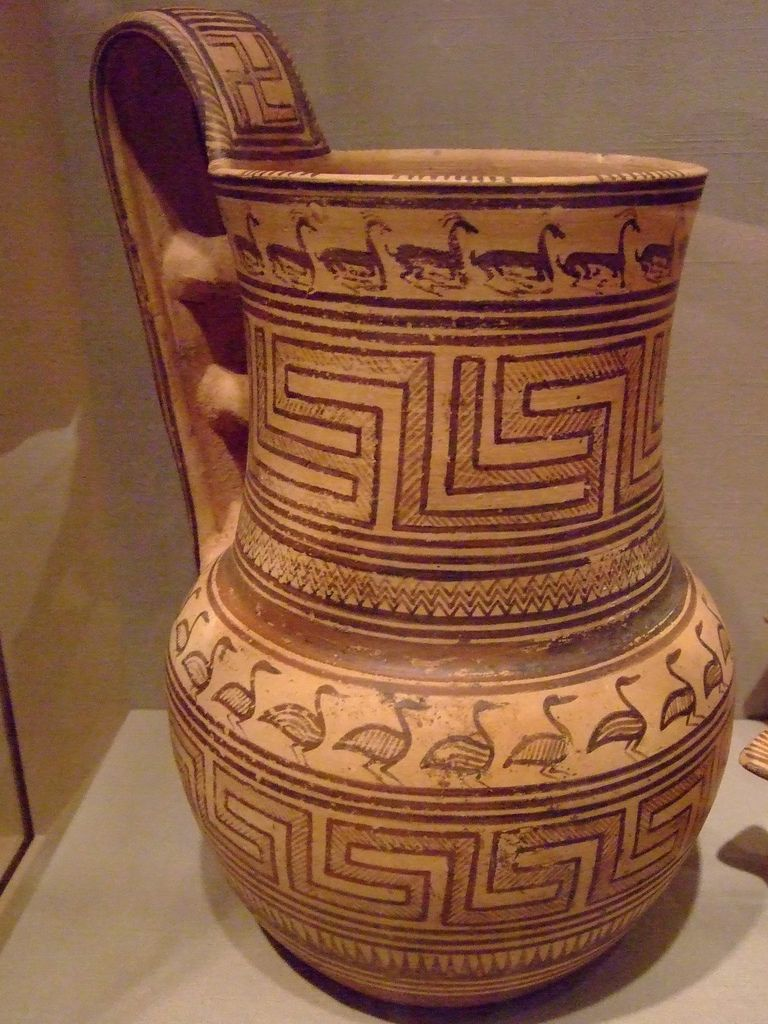 Greek pottery geometric patterns for Pottery painting patterns