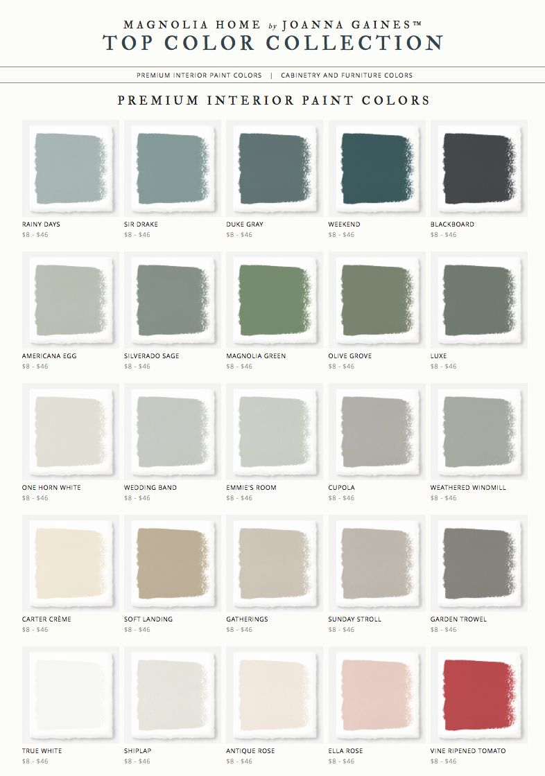 Magnolia Home By Joanna Gaines Paint Colors Love These