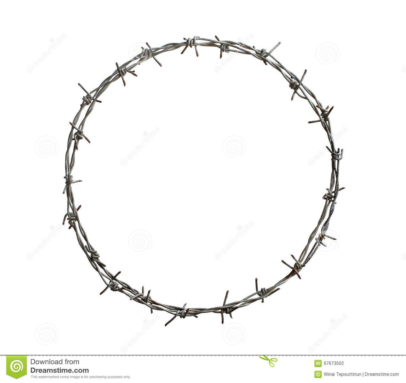 Barbed Wire Circle Isolated On White Background Sponsored Sponsored Advertisement Wire Backgr Infographic Design Inspiration Circle White Background
