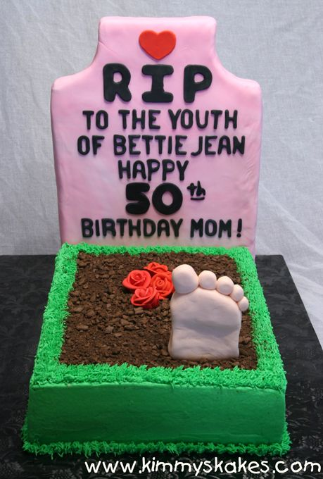 The perfect cake idea for an over the hill party overthehill party