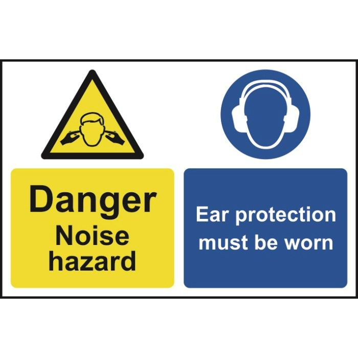 Caution Noise Hazard Ear Protectors Sign Products - A basic guide to vinyl signs removal optionshow to use vinyl off to remove sign and vehicle graphicssteps