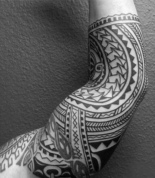 50 Polynesian Half Sleeve Tattoo Designs For Men Tribal Ideas Tattoo Sleeve Designs Half Sleeve Tattoo Polynesian Tattoo