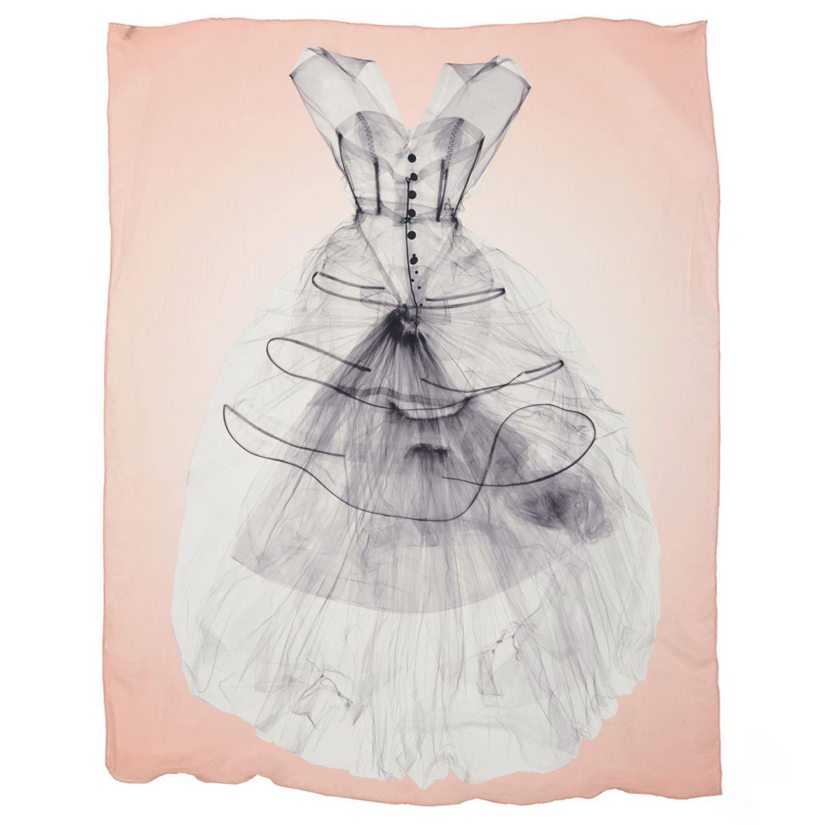 Pink dress drawing  XRay Dress scarf  Scarves  Fashion  Art  Pinterest  Scarves
