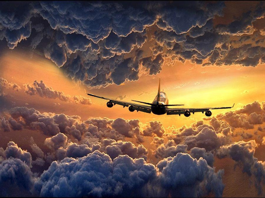 Открытки с приземлением самолета, открытку без фотошопа