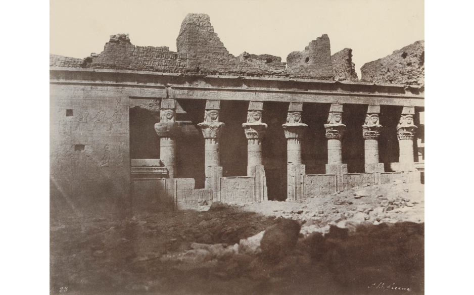 The Birth House of Isis, Philae Artist/Maker: John Beasly Greene (American, born France, 1832 - 1856) Date:1853 - 1854 Medium: Salted paper print from a waxed calotype negative The Getty Museum