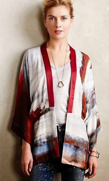 The Mahogany Stylist: Notes on a Pattern - Simplicity 1318 Kimono ...