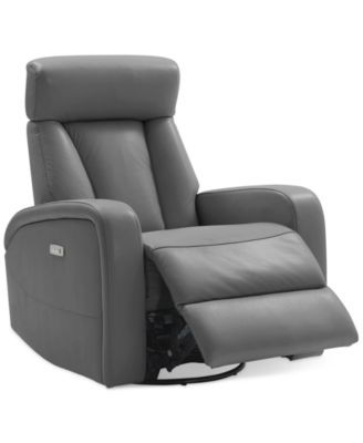 Amazing Dasia Leather Swivel Rocker Power Recliner With Articulating Ibusinesslaw Wood Chair Design Ideas Ibusinesslaworg