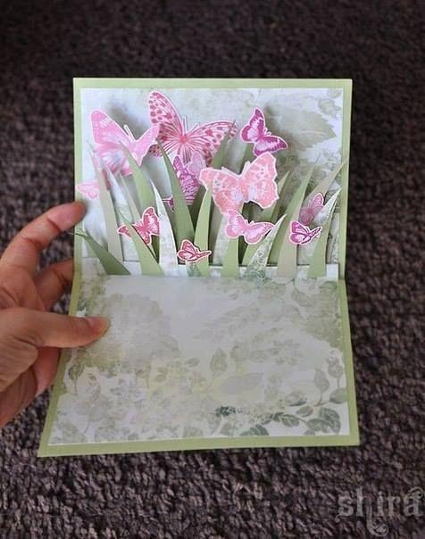 Открытки бумаги, раскладная открытка своими руками 8 марта