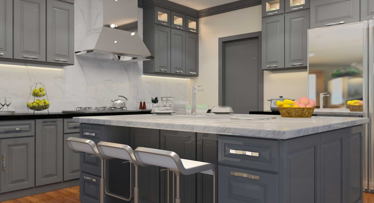 Chicago Ica Cabinet Supply Ica Cabinet Grey Painted Kitchen Kitchen Cabinets Painted Grey Assembled Kitchen Cabinets