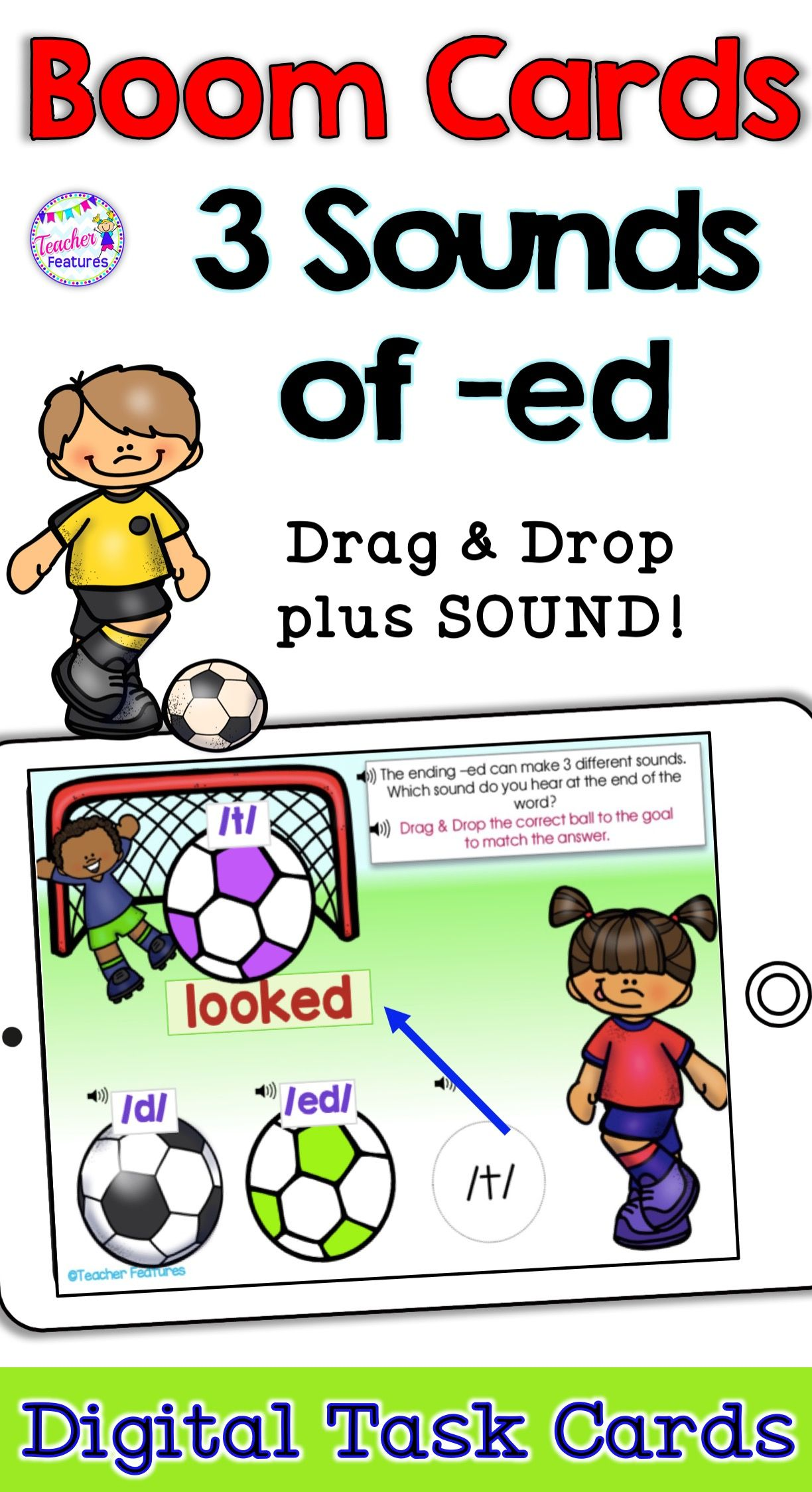 Boom Cards Reading Inflectional Endings With The Three
