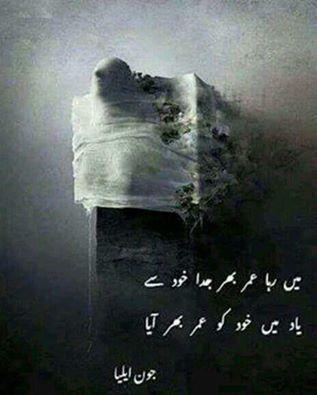 Pin by Samie Ansari on jaun elia | Urdu poetry, John elia ...