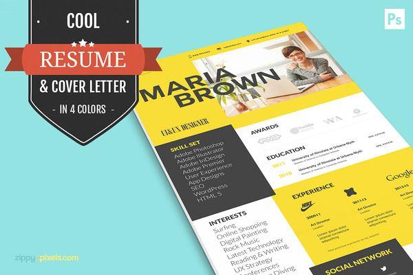 Cool Resume For Creative Designers Resume Design Pinterest - tech support resumeresume business cards