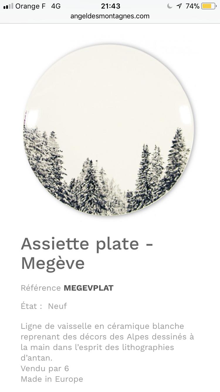 Vaisselle Megève By Angel Des Montagnes Www