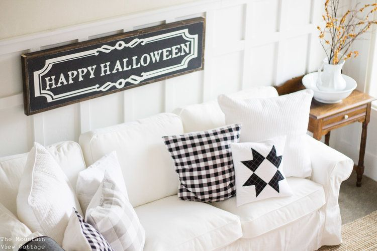 Farmhouse Halloween Home decor from the Mountain View Cottage-8jpg