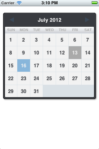 Good-looking calendar view for iOS | Test | Ios, Computer keyboard