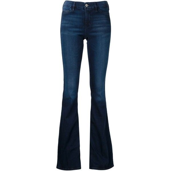 Mih Jeans Flared Jeans (1.490 VEF) ❤ liked on Polyvore featuring jeans, blue, mih jeans, flared jeans, blue jeans and flare jeans