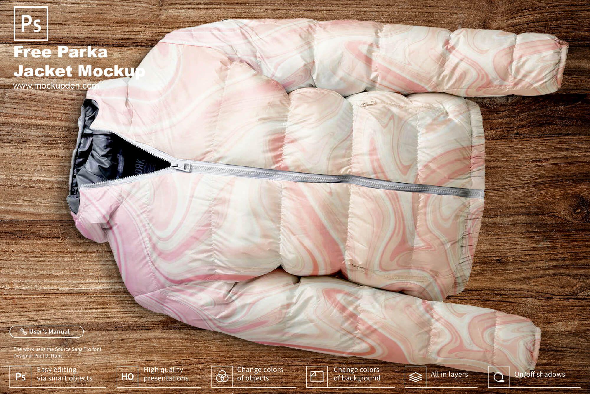 Download Free Parka Jacket Mockup Psd Template Parka Jacket Clothing Mockup Mockup Psd