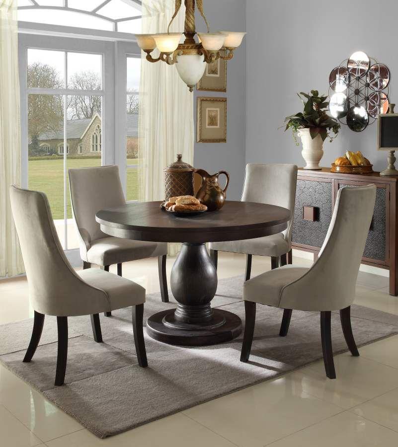 Homelegance Dandelion Dining Table Set In Taupe