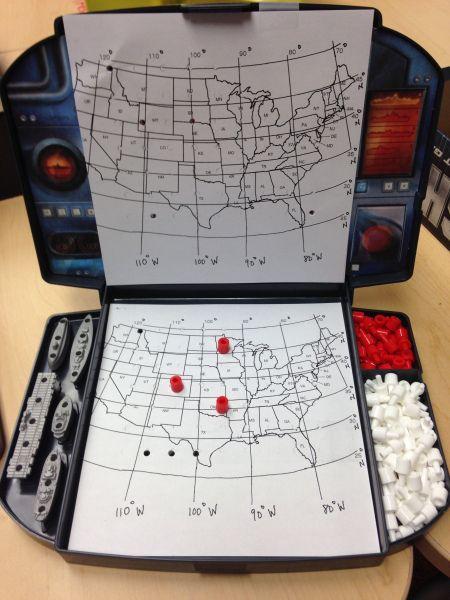 Longitude and Latitude Battleship Pinterest Map skills, Teaching