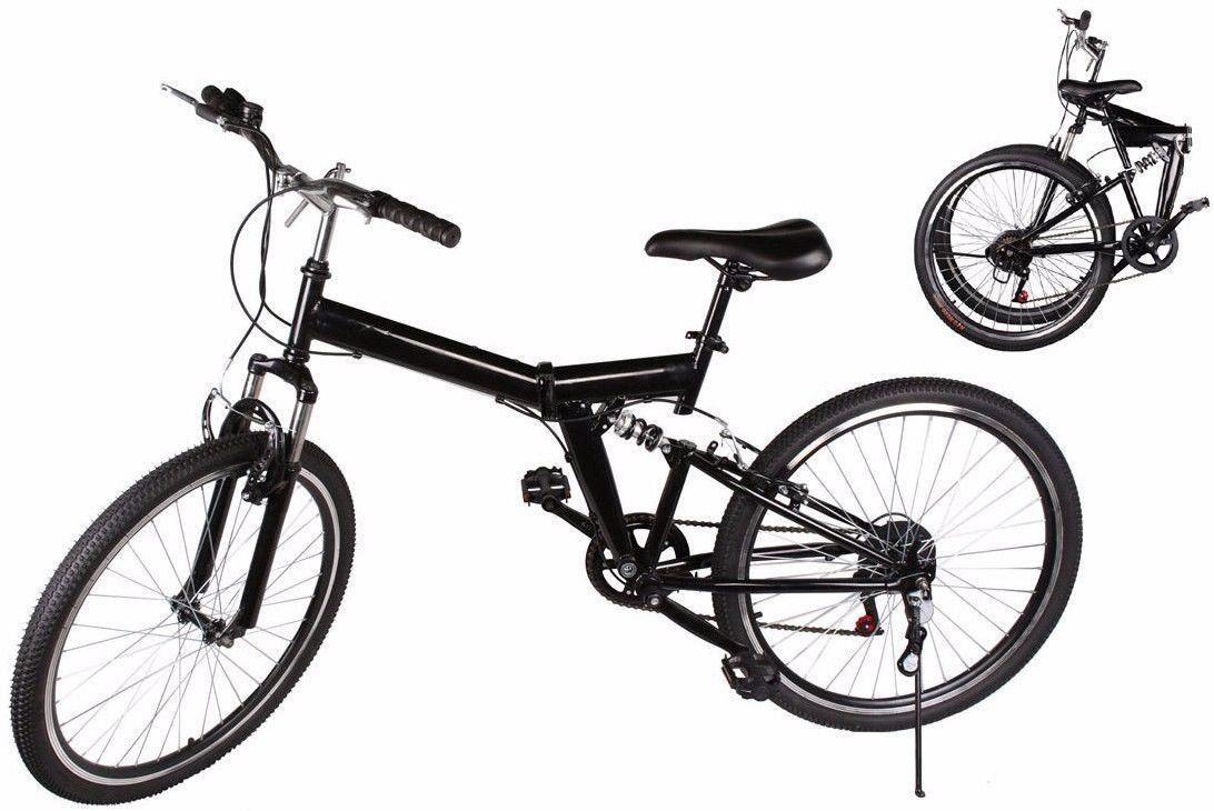 GHP Heayduty Black Folding Mountain Bicycle w 6-speed Derailleur ...