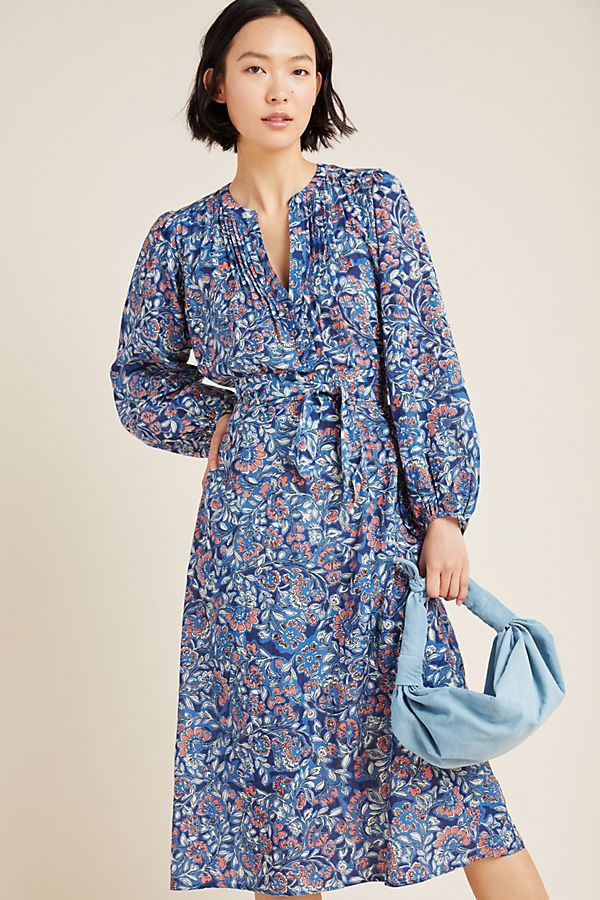 Beau Belted Midi Dress In 2020 Dresses Boho Outfits