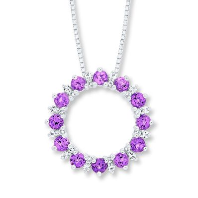 0d1640bb1 Amethyst and White Topaz Necklace Sterling Silver | Products ...