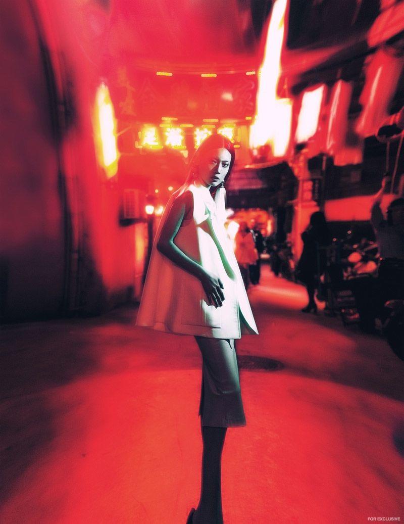 Vest Victoria Beckham, Top Chloe, Skirt stylist's own, Earrings stylist's own
