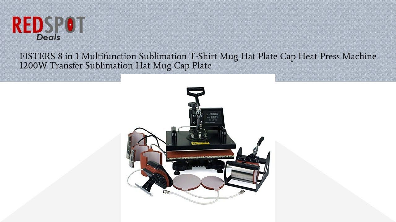 94dea31be16 Buy FISTERS 8 in 1 Multifunction Sublimation T-Shirt Mug Hat Plate Cap Heat  Press