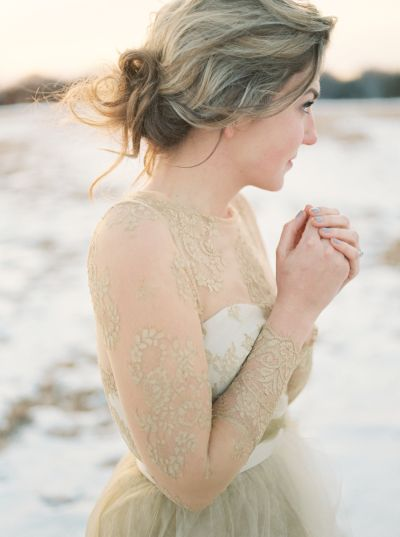 Gold wedding gowns that'll have you waving goodbye to white: http://www.stylemepretty.com/collection/2895/