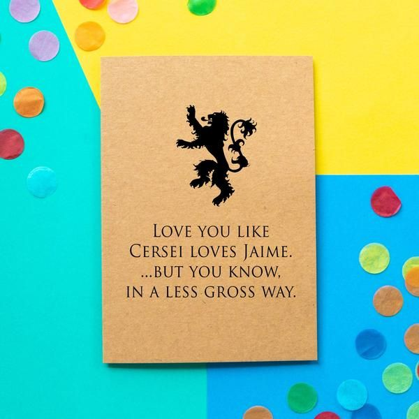 funny game of thrones valentines card  love you like