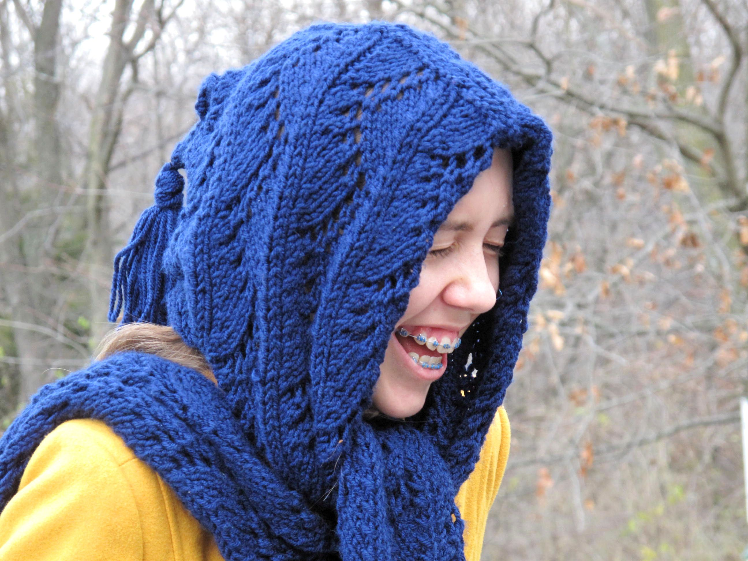 Do Your Ears Hang Low? | Hooded scarf, Knitted hats, My style