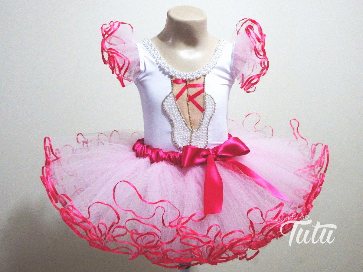 23536efba2 NOVO!! Conjunto Bailarina Luxo! 1 collant com aplicação