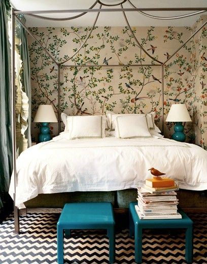 chinoiserie loving the wall paper