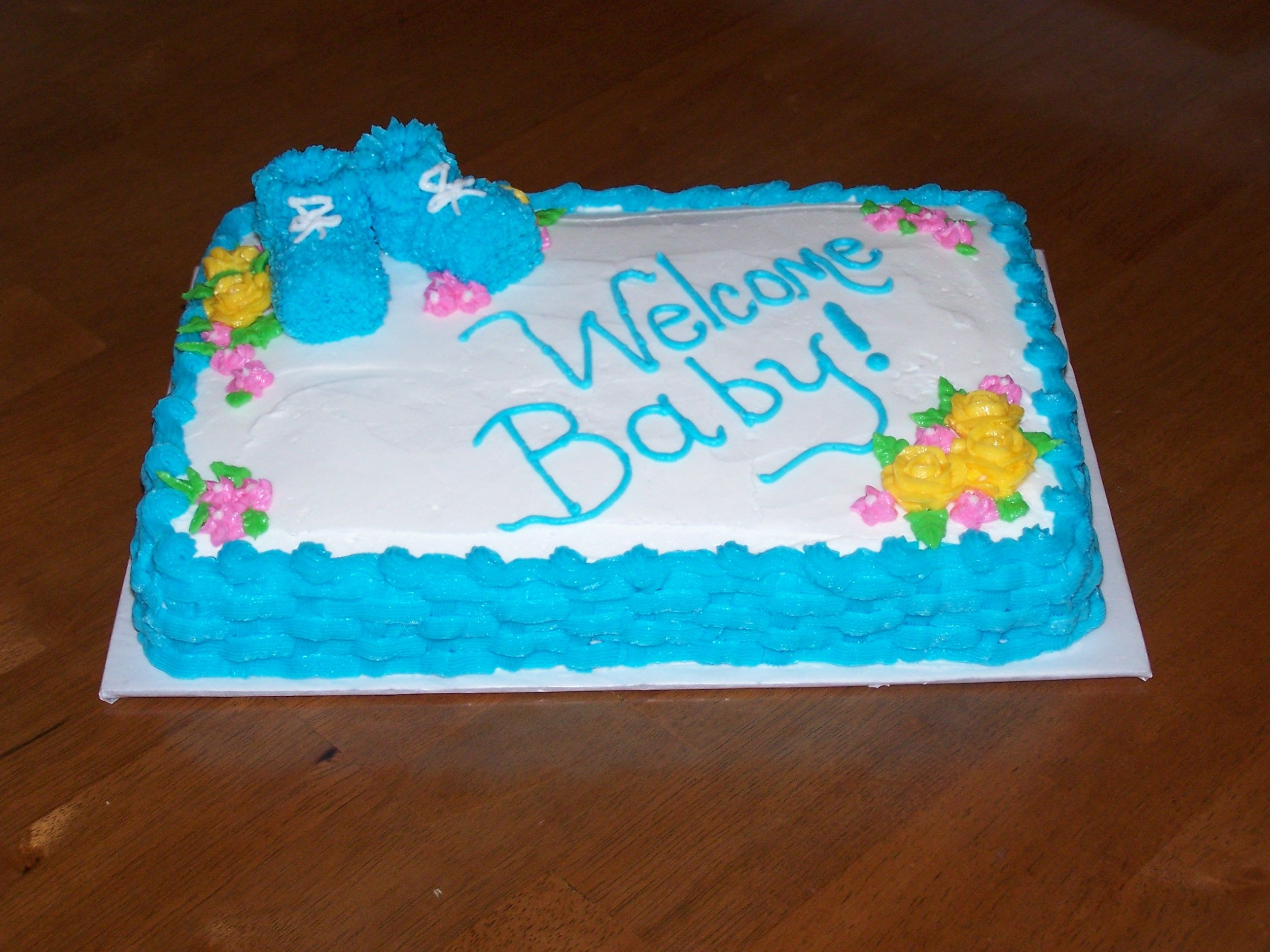 Baby Shower A last minute baby shower cake
