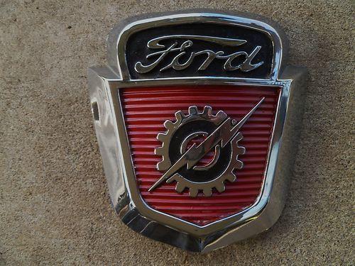 Vintage Ford Decals : Vintage ford f hood emblem trim nice ebay art of