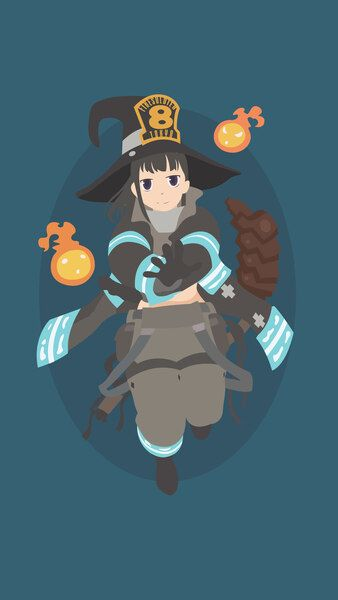 Fire Force Maki Oze Minimalist 4k Hd Mobile Smartphone And Pc Desktop Laptop Wallpaper 3840x2160 Anime Wallpaper Iphone Anime Wallpaper